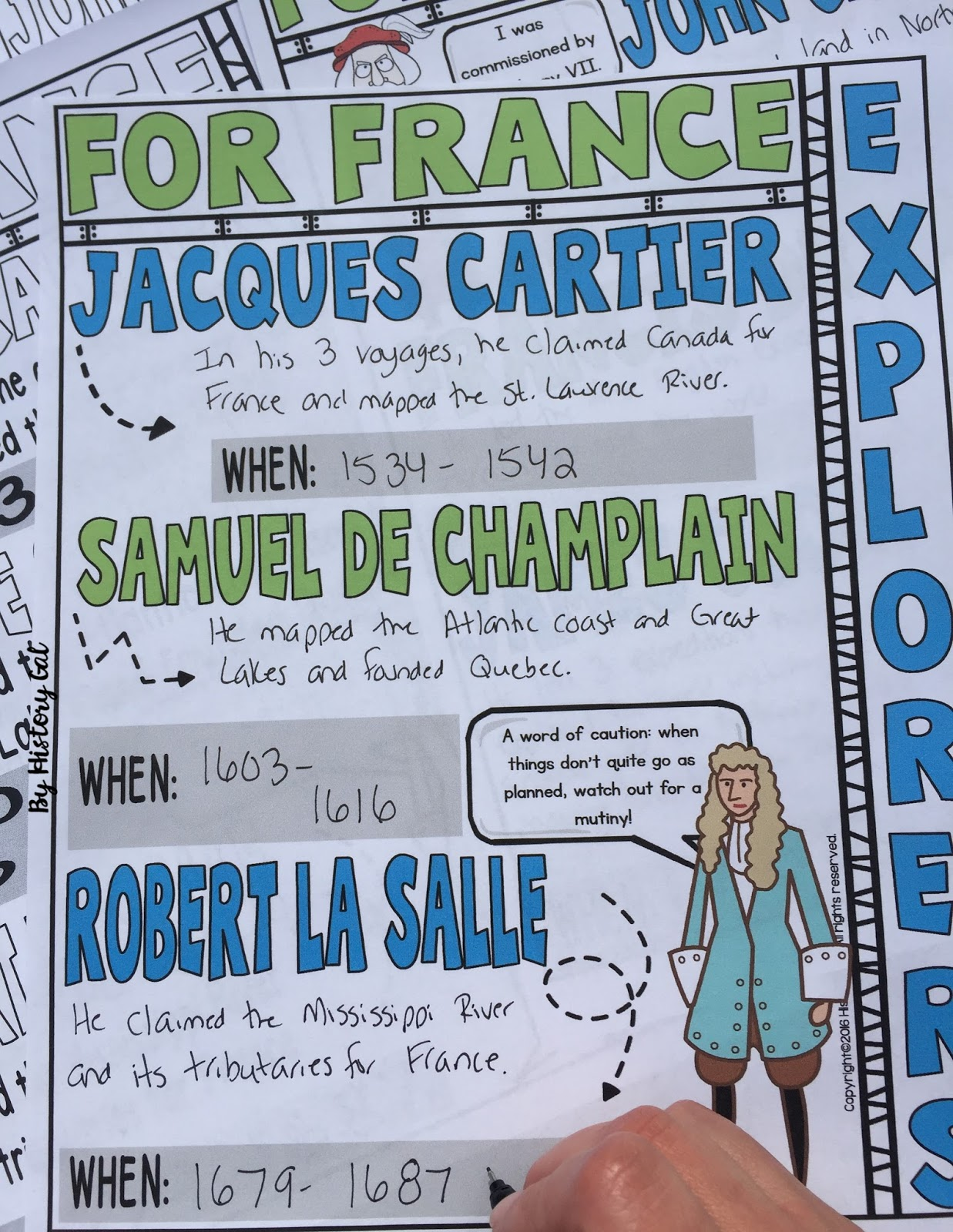An engaging way to teach the French, English, and Dutch Explorers by History Gal