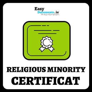 Religious minority certificate