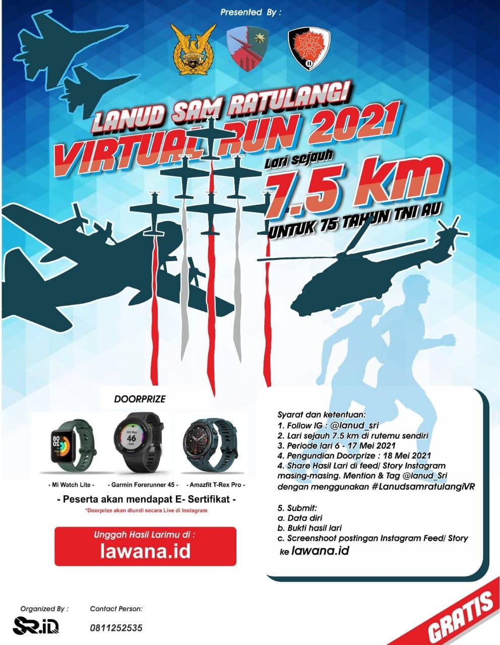 Lanud Sam Ratulangi Virtual Run • 2021