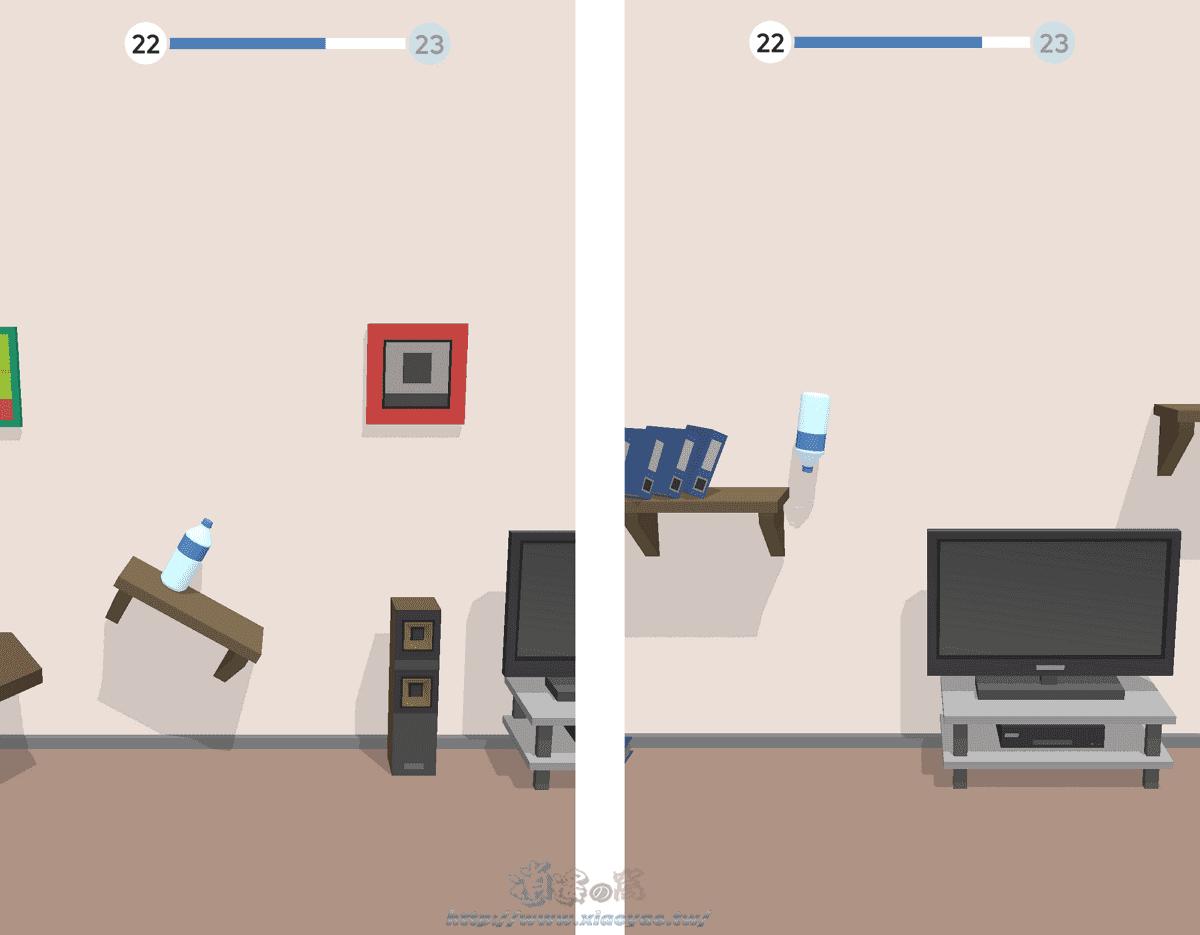 Bottle Flip 3D 控制瓶子翻轉跳躍房間