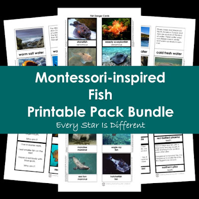 Montessori-inspired Fish Printable Pack Bundle