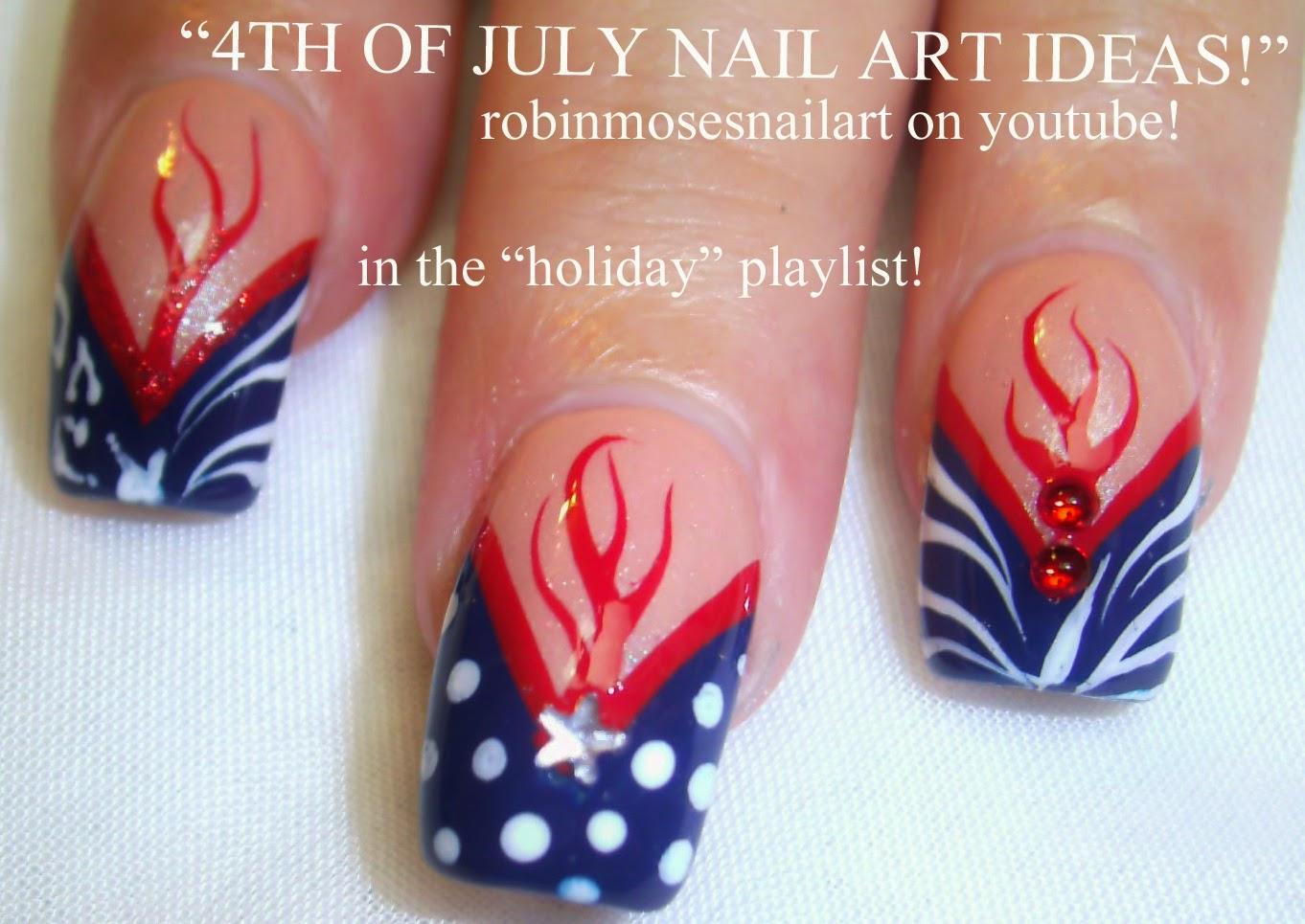 Nail Art By Robin Moses Memorial Day Nail Art Memorial Day Nails