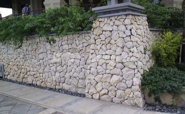 pagar batu limestone