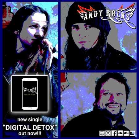 "ANDY ROCKS: Ακούστε το νέο single ""Digital Detox"""