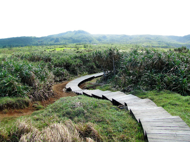walkway niutou mountain green island taiwan
