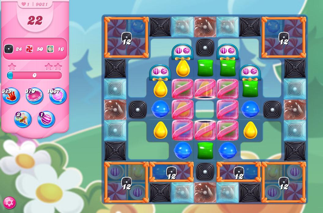 Candy Crush Saga level 9021