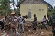 Puting Beliung Terjang Sambelia, Kodim dan Instansi Terkait Lotim Berikan Bantuan