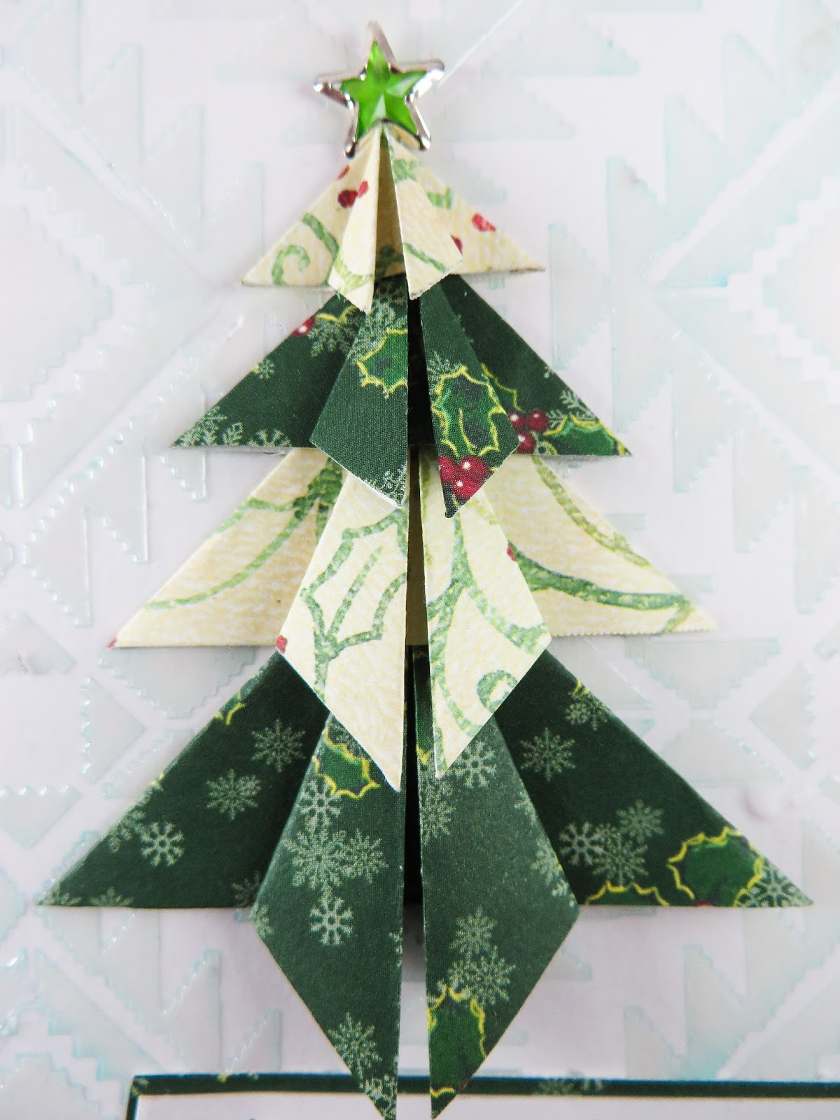 craft concoction origami christmas tree
