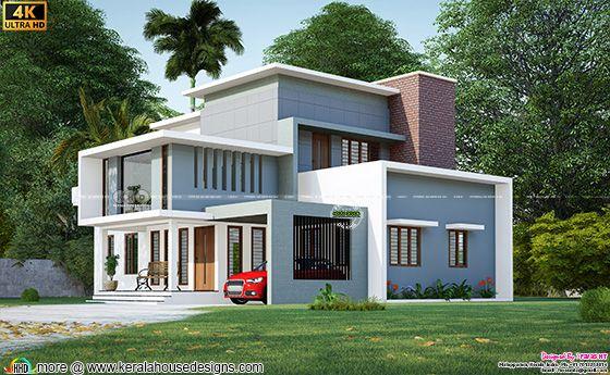 Beautiful box model house 3d rendering