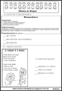 Avaliação português 3º ano