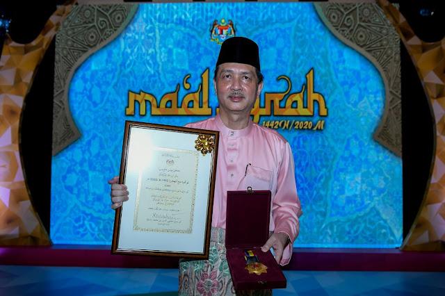Tan Sri Dr Noor Hisham Dianugerahkan Tokoh Maal Hijrah 1442H.