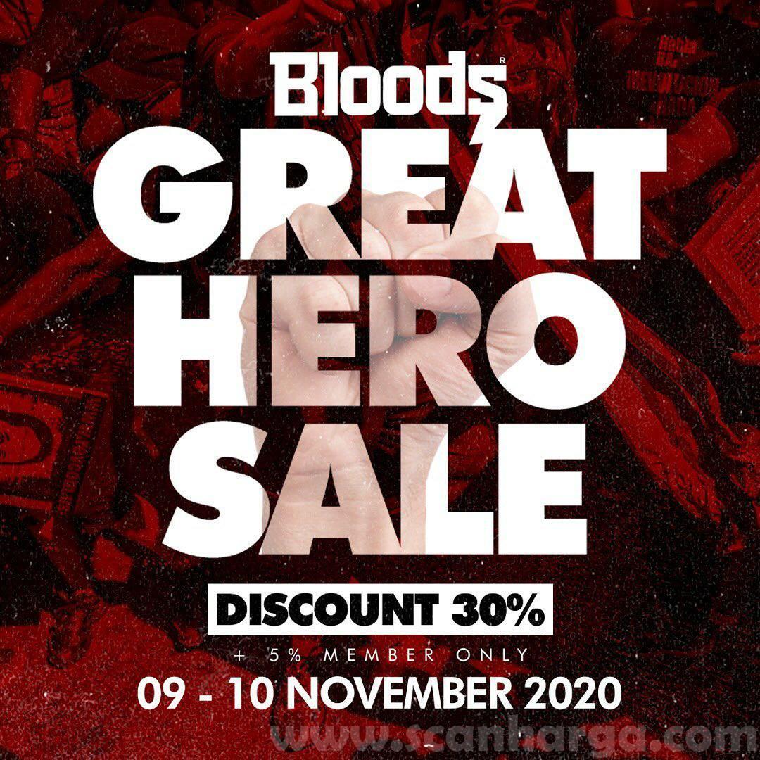 Promo Bloods Great Hero Sale Diskon 30% (+5% member only)