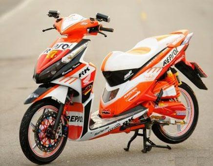 Gambar Modifikasi Motor Honda Vario