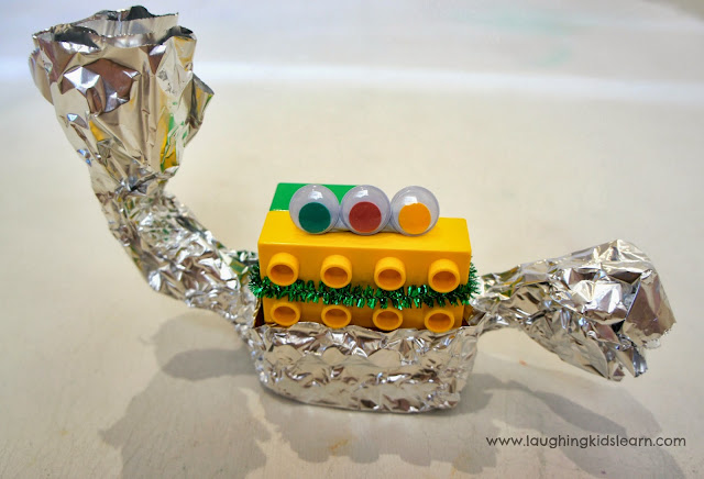 Making and creating Lego monsters by Laughing Kids Learn
