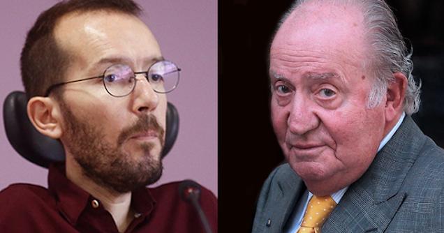 Pablo Echenique y Juan Carlos I