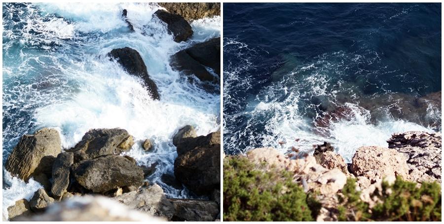 Blog + Fotografie by it's me! - fim.works - Ibiza, Portinatx - Collage Blick ins Meer vom nördlichsten Ende der Insel