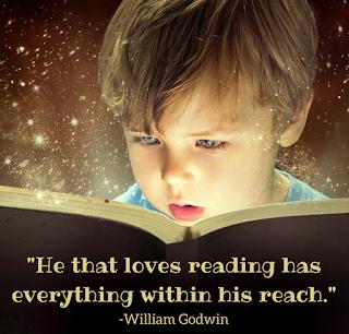 """""""El que ama la lectura tiene tiene todo a su alcance"""".-William Godwin"""