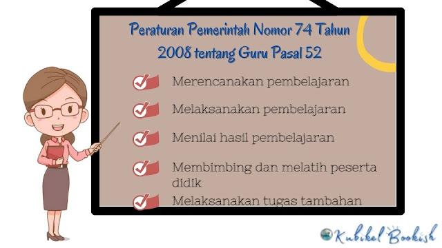 Peraturan Pemerintah Nomor 74 tahun 2008 pasal 52