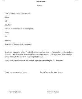 Contoh surat kuasa kepala desa
