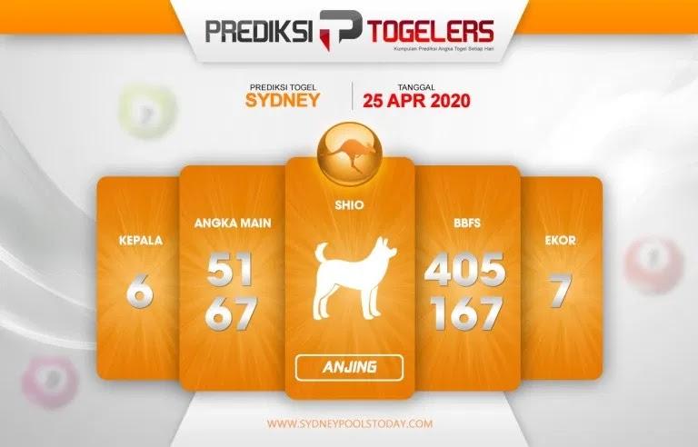 Prediksi Sydney 25 April 2020 - Prediksi Togellers