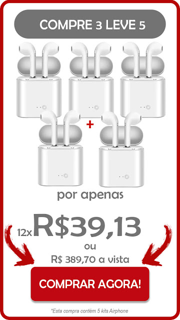 pacote com 5 airphone brasil