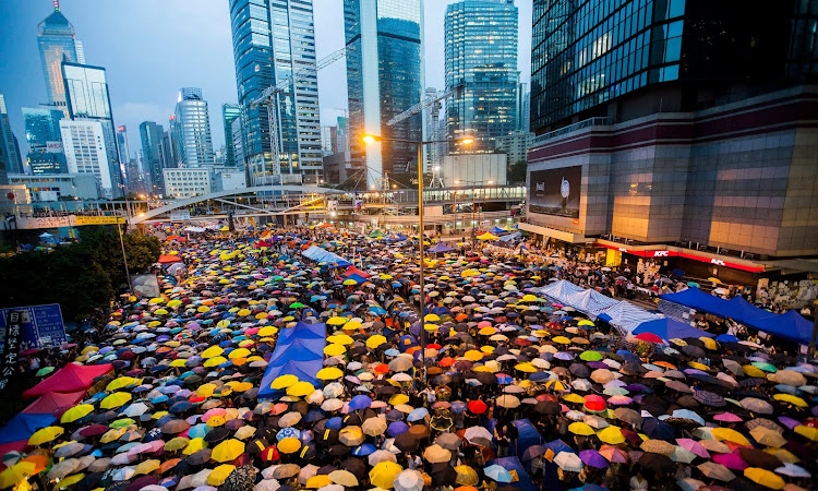 The Occupy Central protest in Hong Kong in October 2014