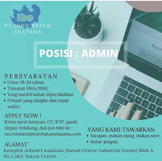 Lowongan kerja PT. Indo Batam Ekatama