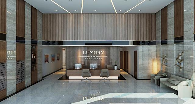 Sảnh đón tiếp cư dân Luxury Apartment