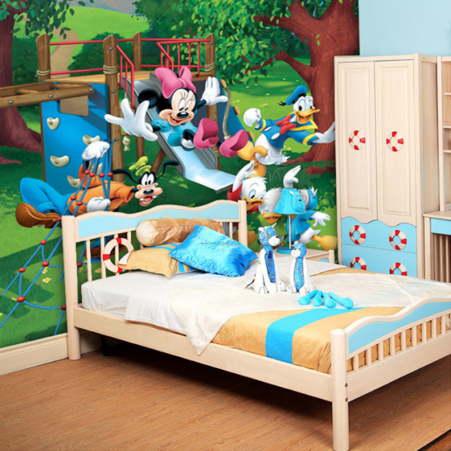 Disney Wall Mural Mickey Mouse Donald Duck