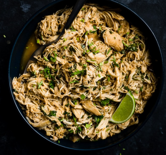 SLOW COOKER CILANTRO LIME CHICKEN #healthydiet #dietketo #paleo #recipes #chicken