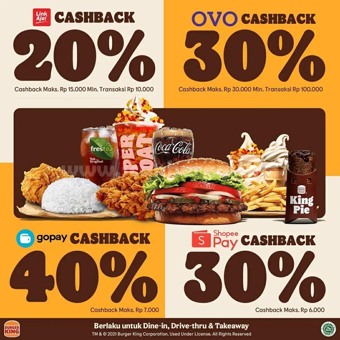Promo BURGER KING Cashback Shopeepay, Gopay, LinkAja & OVO