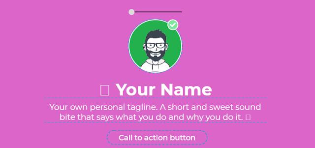 انشاء موقع من صفحة واحدة تحتوي علي اعمالك ومعلوماتك وصورك وروابطك الاجتماعية