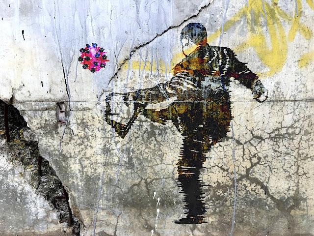 coronavirus graffiti art