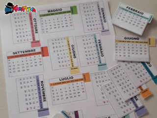 etichette calendario per bullet journal