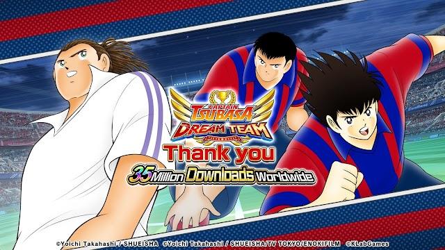 35 million downloads of Captain Tsubasa online game