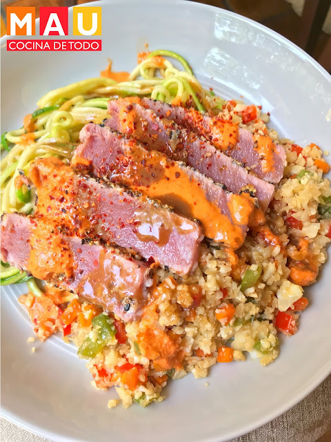 mau cocina de todo arroz frito de coliflor keto receta facil cetogenica dieta