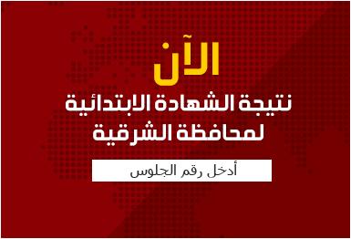 رابط مباشر وسريع لنتيجة محافظة الشرقيه 2017 الشهادة الابتدائية - أخر العام