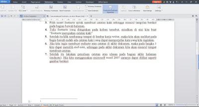 Catatan Kaki atau Footnote dan Endnote