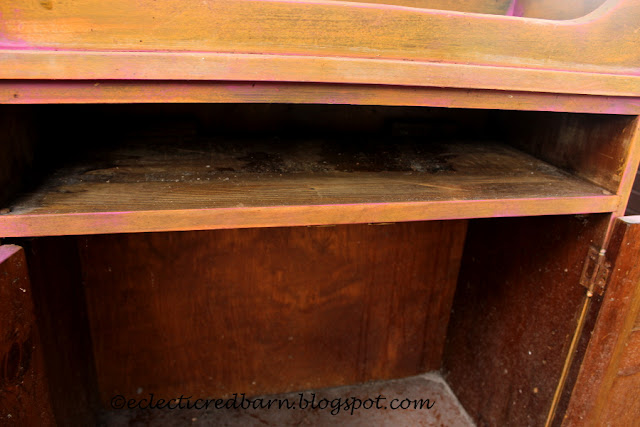 Eclectic Red Barn: Dirty drawer of cabinet