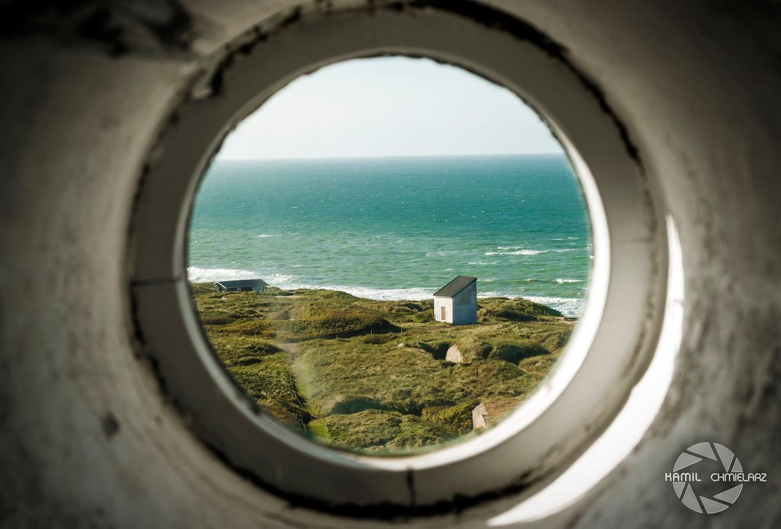 Widok z latarni morskiej w Hirsthals, Nordjylland