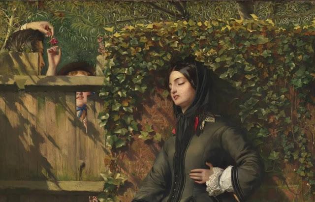 """Detalhe da obra de Calderon """"Votos Quebrados"""" (1856)"""