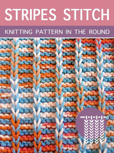 Hand Knitting Pattern - Stripes in the round