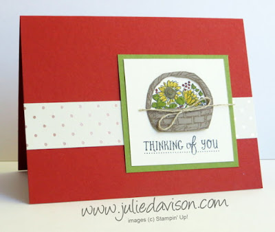 Stampin' Up! Basket of Wishes Card from 2016  Stampin' Up! Holiday Catalog #stampinup www.juliedavison.com