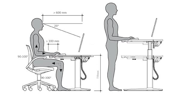 Bàn thông minh có thể điều chỉnh tư thế ngồi linh hoạt