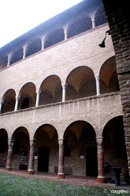 Particolare del Cortile interno alla Rocca Sanvitale