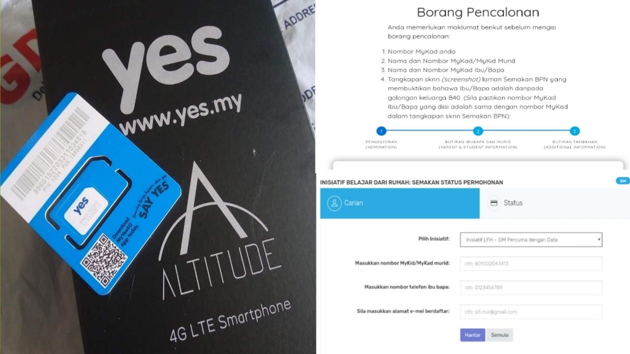 Permohonan Dan Semakan Status Telefon Pintar Percuma B40 2021 Secara Online