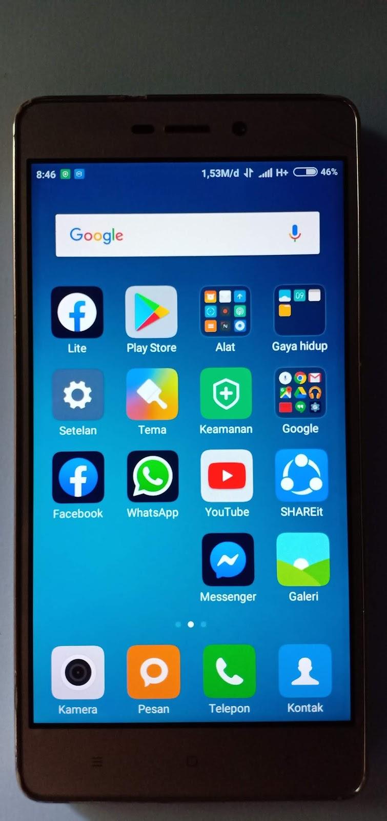 Redmi 3 Sinyal 4G Hilang