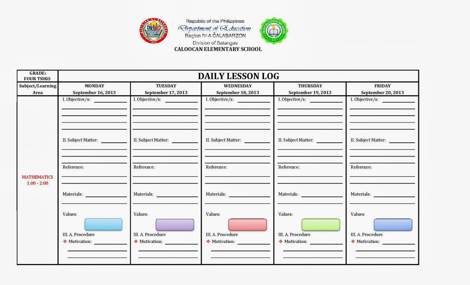 DAILY LESSON LOG FORMAT ENGLISH FILIPINO LANGUAGE FILESishare – Sample Daily Lesson Plan Template