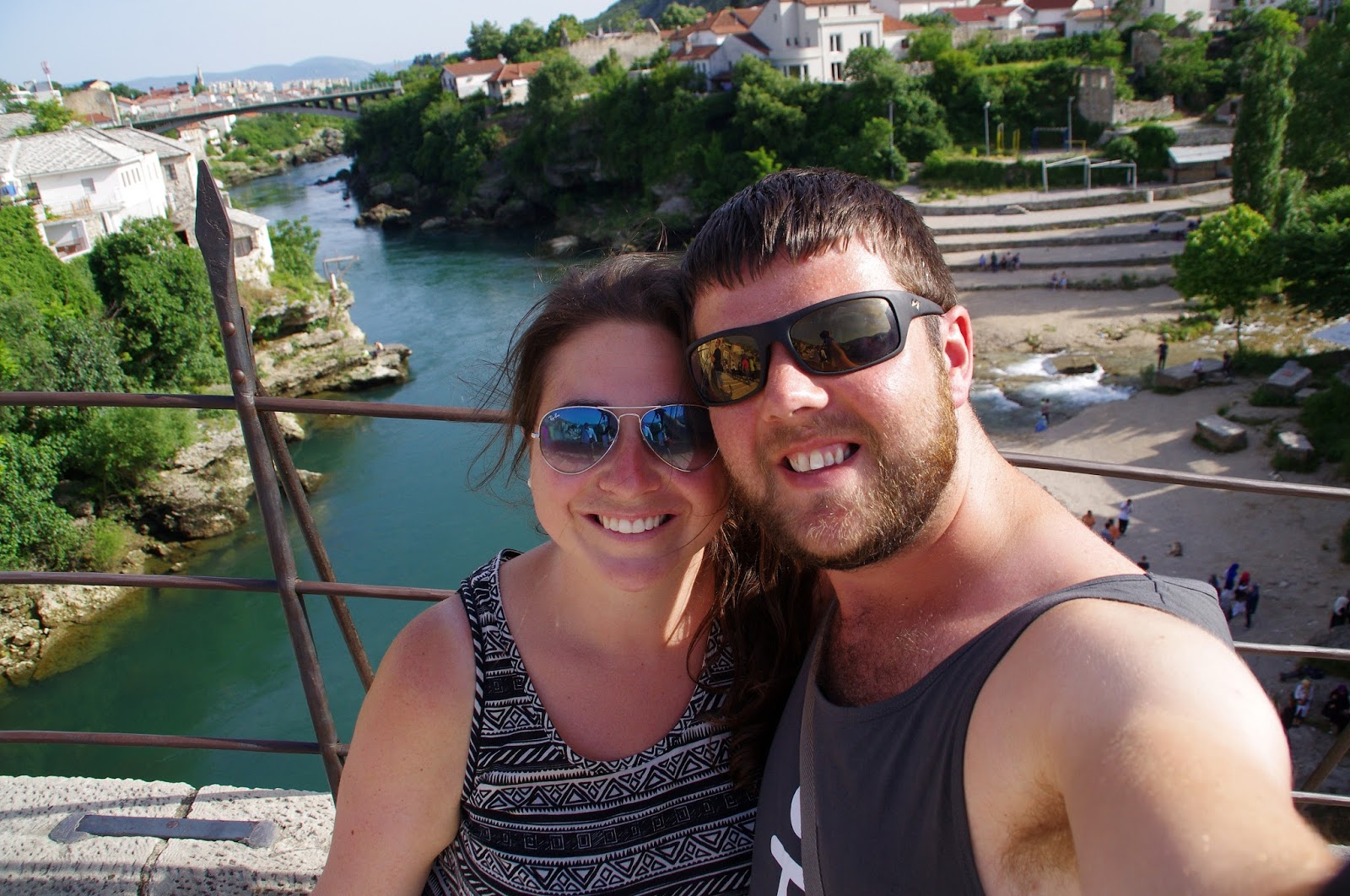 Couple on Stari Most Mostar