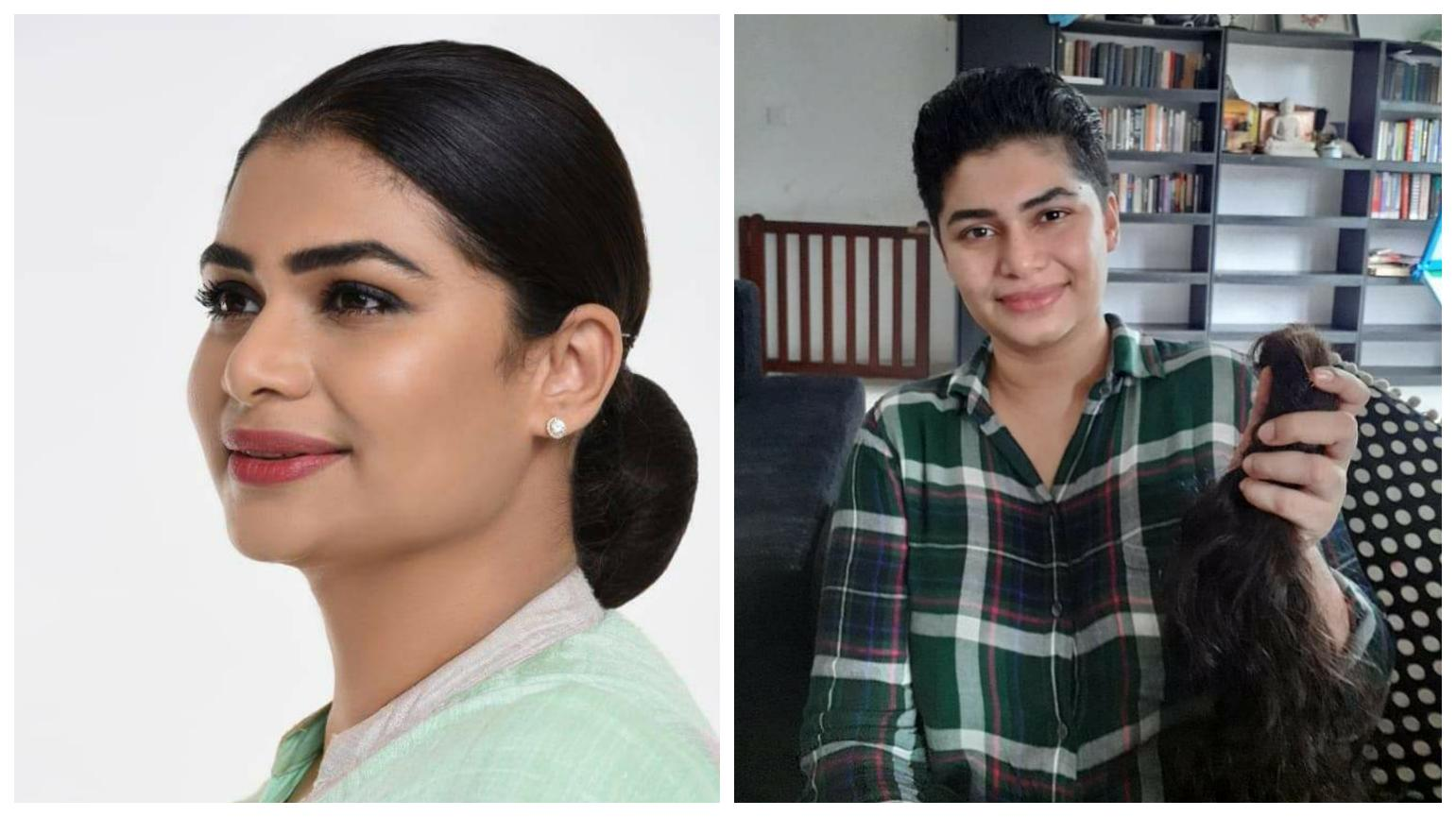 Hirunika donates her hair to a Cancer Patient